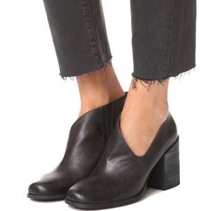 Free People | Terrah black leather cutout booties